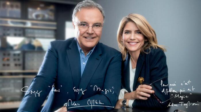 Alain Afflelou et Alice Taglioni