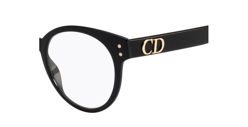 Lunettes de vue femme DIORCD3 noir - Vue de côté