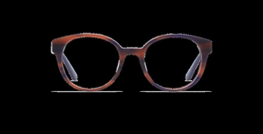 Lunettes de vue femme ABIGAIL écaille/bleu - Vue de face