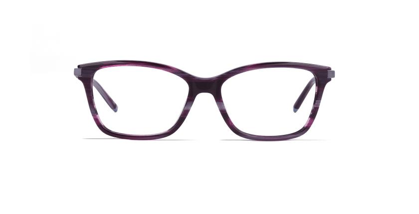 Lunettes de vue femme MEDICIS violet - Vue de face