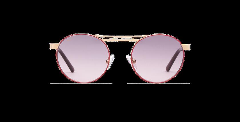 Lunettes de soleil femme ROMY rose/doré - Vue de face