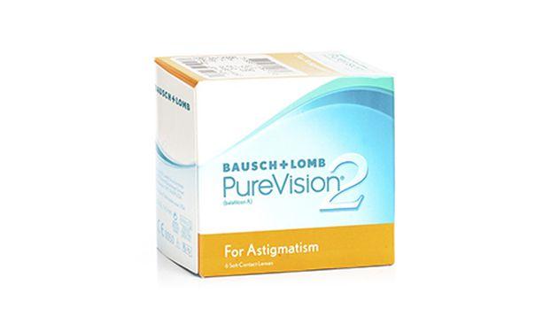 Lentilles de contact PureVision 2 HD for Astigmatism 6L - Vue de face