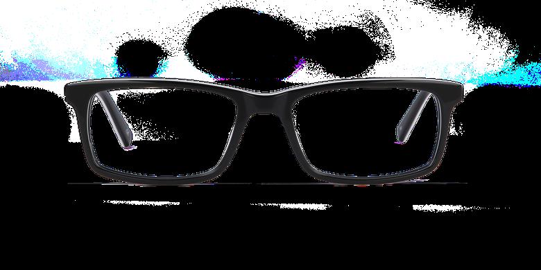 Lunettes de vue homme LEON noirVue de face