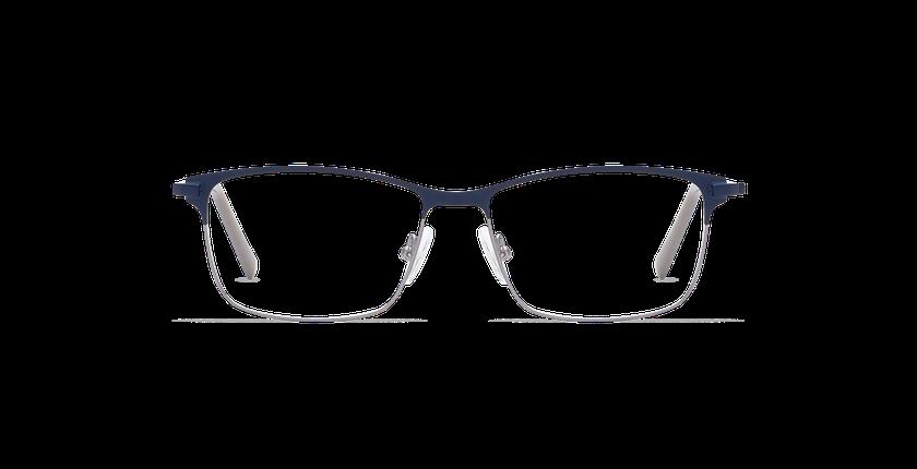 Lunettes de vue homme CORENTIN bleu/argenté - Vue de face