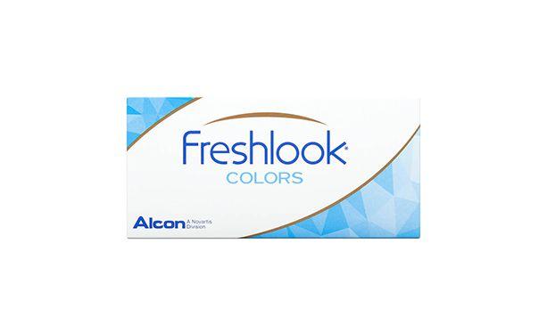 Lentilles de contact FreshLook Colors Sapphire Blue 2L - Vue de face