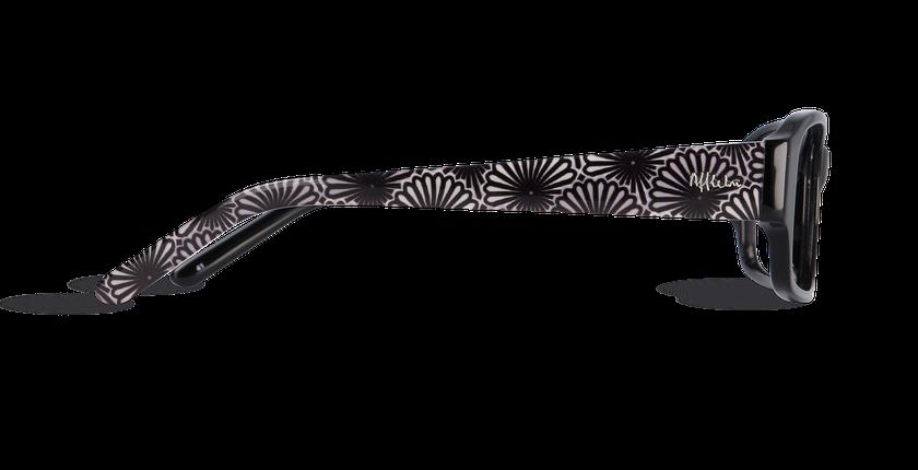 Lunettes de vue femme CHANTAL noir - Vue de côté