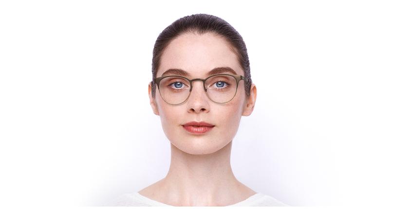 Lunettes de vue femme MAGIC 44 marron/beige - Vue de face