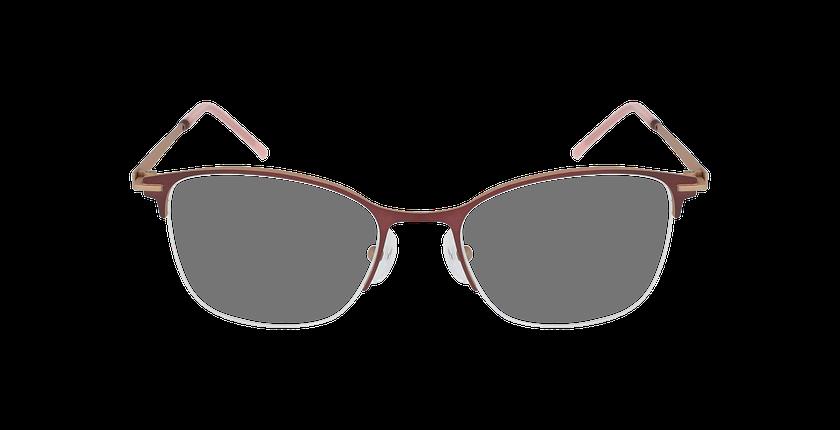 Lunettes de vue femme VEGA rose/beige - Vue de face
