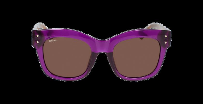 Lunettes de soleil enfant SELENA écaille/violet - Vue de face