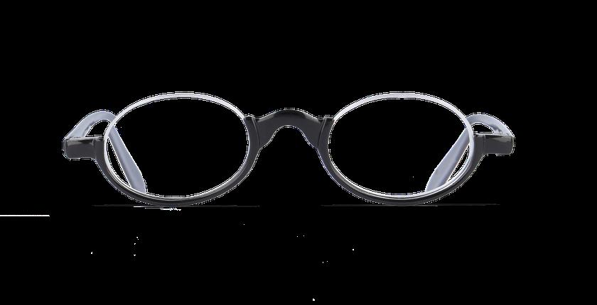 Lunettes de vue AFFLELOU FORTY noir/argenté - Vue de face