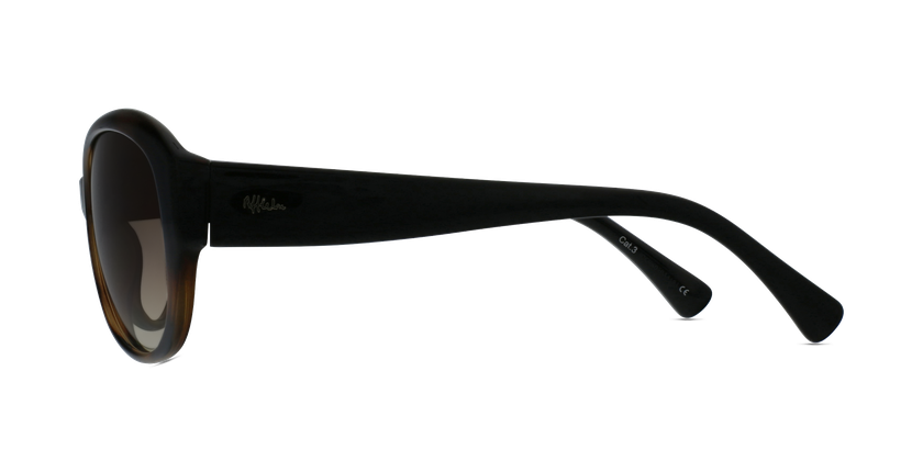 Lunettes de soleil femme MARTINA écaille/noir - Vue de côté