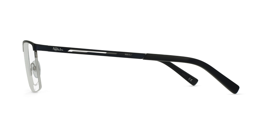 Lunettes de vue homme REMI bleu/gris - Vue de côté