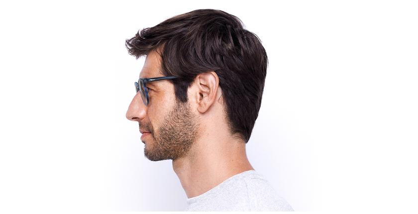 Lunettes de vue homme MAXENCE bleu - Vue de côté