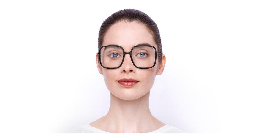 Lunettes de vue femme SOSTELLAIREO1 écaille - Vue de face