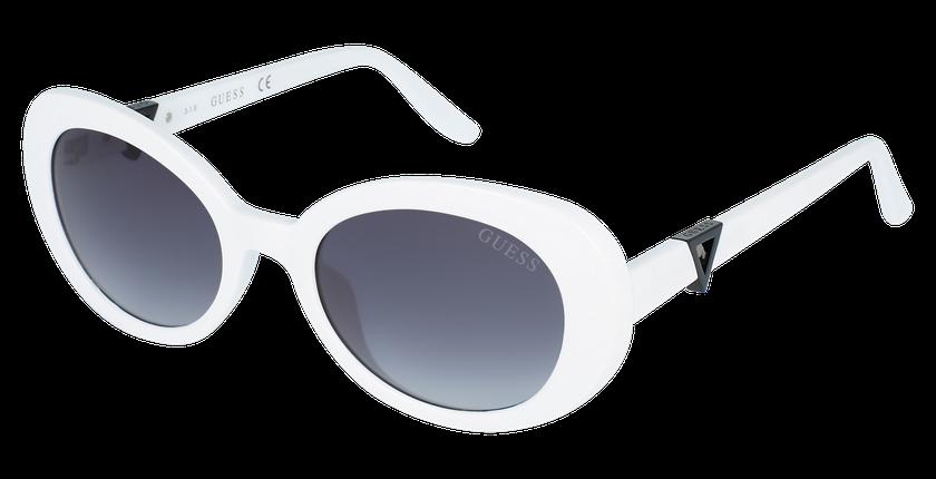 Lunettes de soleil femme GU7632 blanc - vue de 3/4
