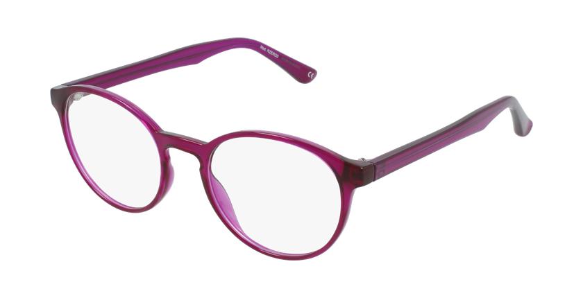 Lunettes de vue femme RZERO3 violet - vue de 3/4