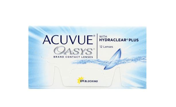 Lentilles de contact Acuvue® Oasys® with Hydraclear® Plus 12L - Vue de face