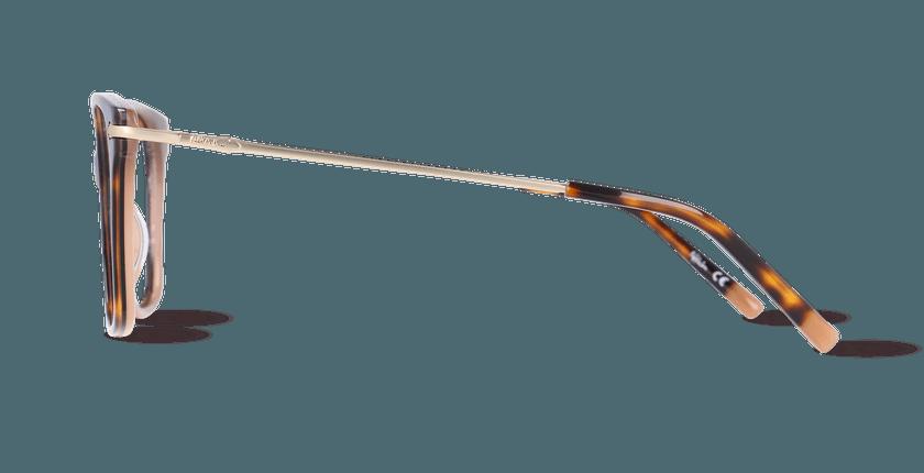 Lunettes de vue femme CLIFDEN écaille/doré - Vue de côté