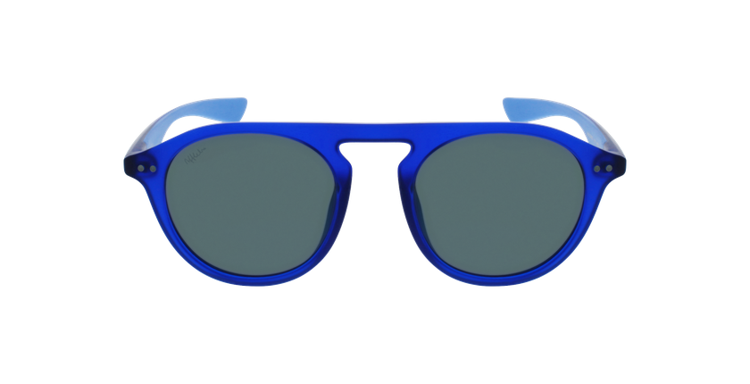 Lunettes de soleil BORNEO POLARIZED bleu/bleu - Vue de face