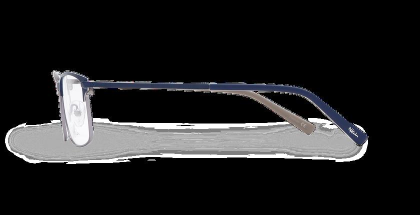 Lunettes de vue homme CORENTIN bleu/argenté - Vue de côté