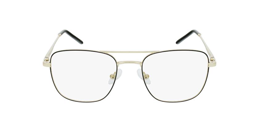 Lunettes de vue homme WALTER noir/doré - Vue de face