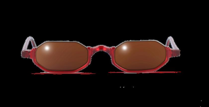 Lunettes de vue FT1S rouge - Vue de face