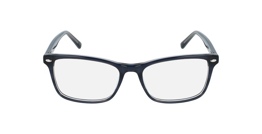 Lunettes de vue homme LUBIN bleu - Vue de face