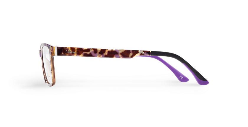 Lunettes de vue femme MAGIC 04 écaille/écaille violet - Vue de côté