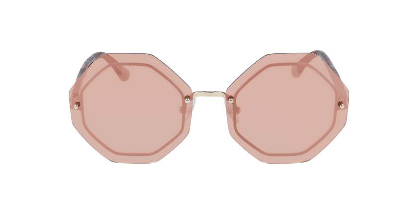 Lunettes de soleil femme VS0024 rose - Vue de face