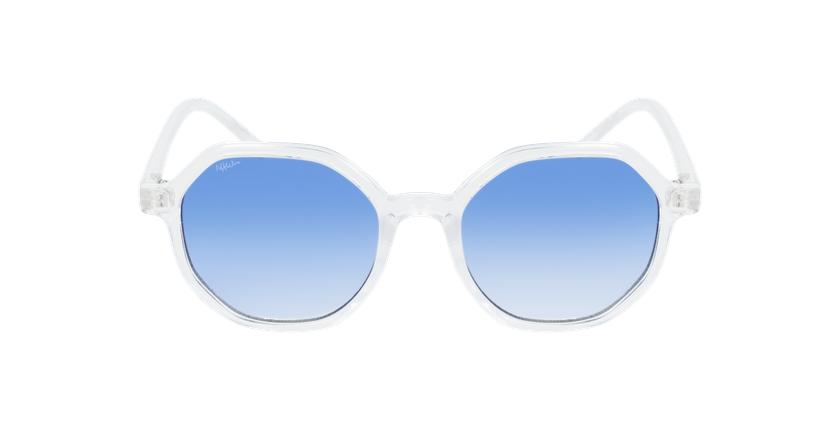 Lunettes de soleil femme DELFIA blanc - Vue de face