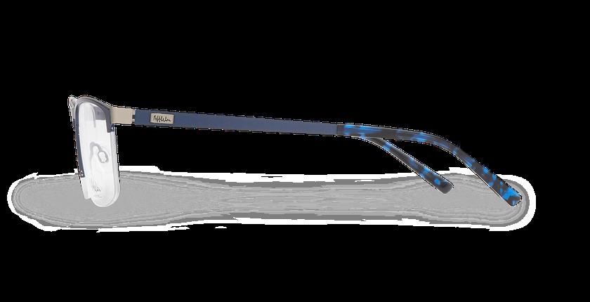 Lunettes de vue homme ALPHA16 bleu/gris - Vue de côté