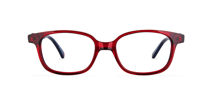 Lunettes de vue enfant STUART rouge - Vue de face