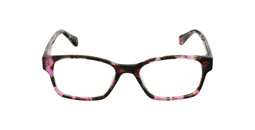 Lunettes de vue femme LYS écaille/rose - Vue de face