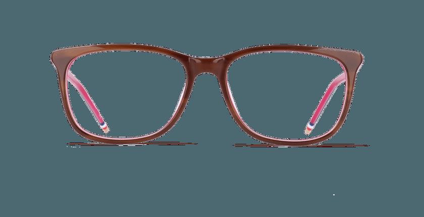 Lunettes de vue femme YLANG marron/rose - Vue de face