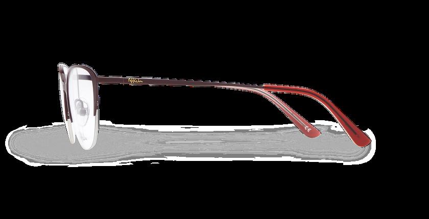 Lunettes de vue femme RACHEL rouge - Vue de côté
