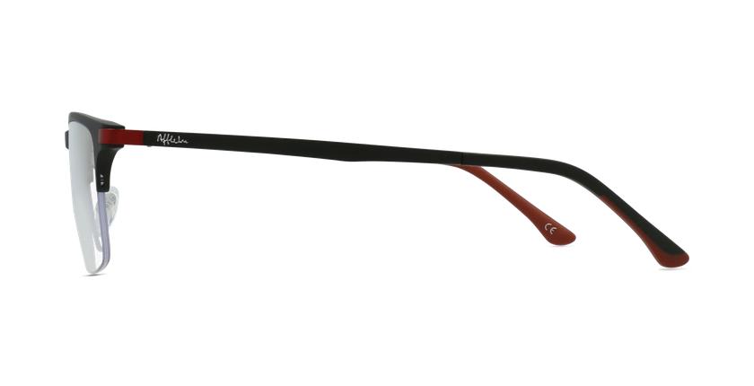 Lunettes de vue homme MAGIC 56 noir/rouge - Vue de côté