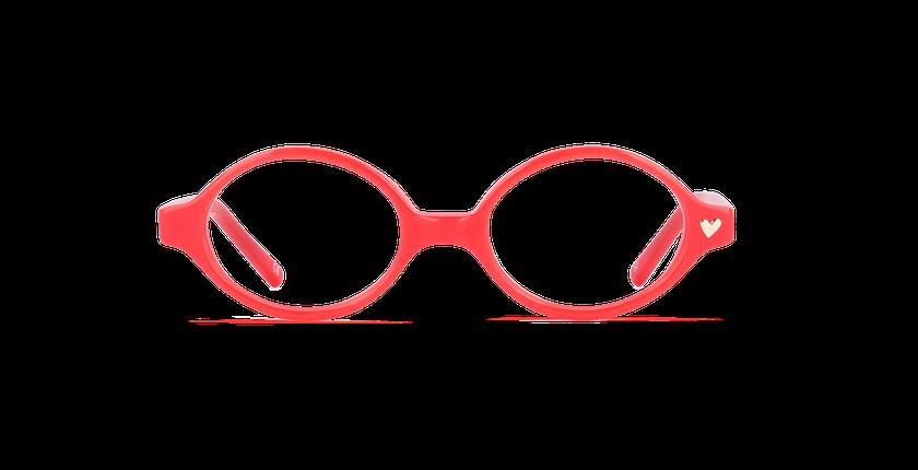 Lunettes de vue enfant MAUD rouge - Vue de face