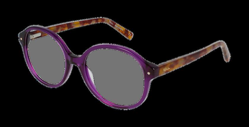 Lunettes de vue femme AMATA violet - vue de 3/4