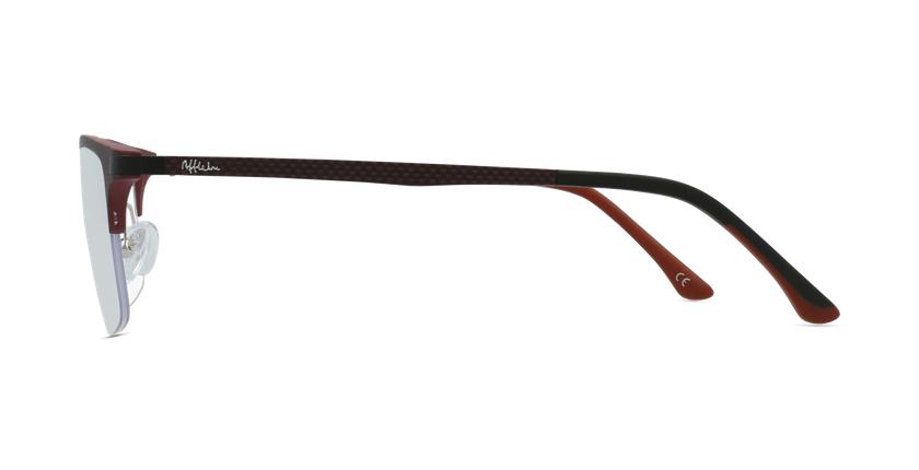 Lunettes de vue homme MAGIC 56 rouge - Vue de côté