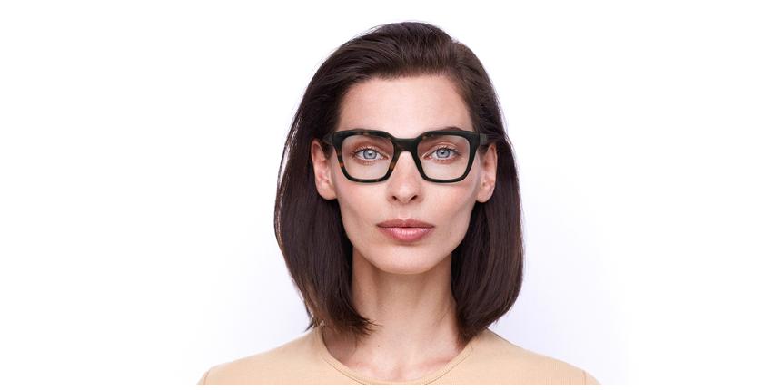 Lunettes de vue femme ALIENOR écaille - Vue de face