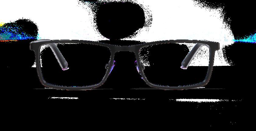 Lunettes de vue homme CHARLES noir - Vue de face