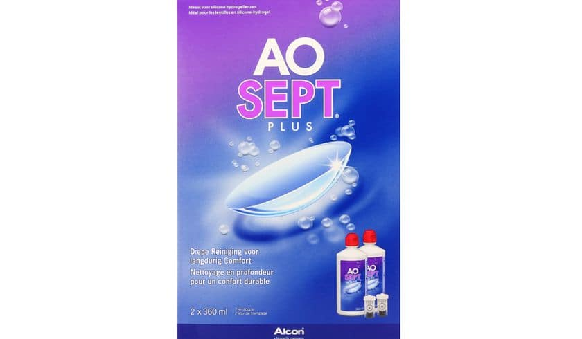 Aosept Plus 2x360ml - Vue de face