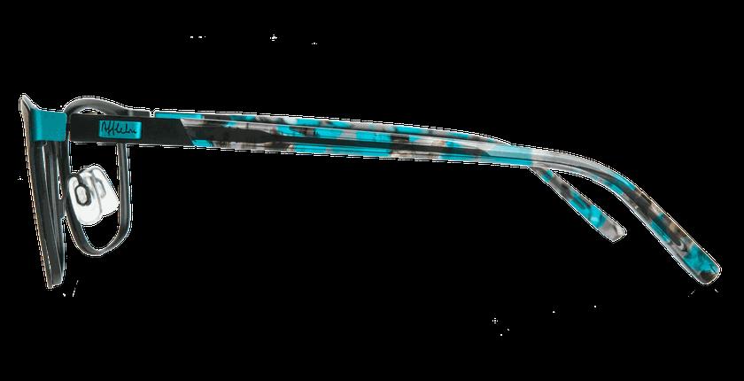 Lunettes de vue femme ALPHA3 noir - Vue de côté