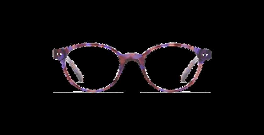 Lunettes de vue enfant MINIMI violet/écaille - Vue de face