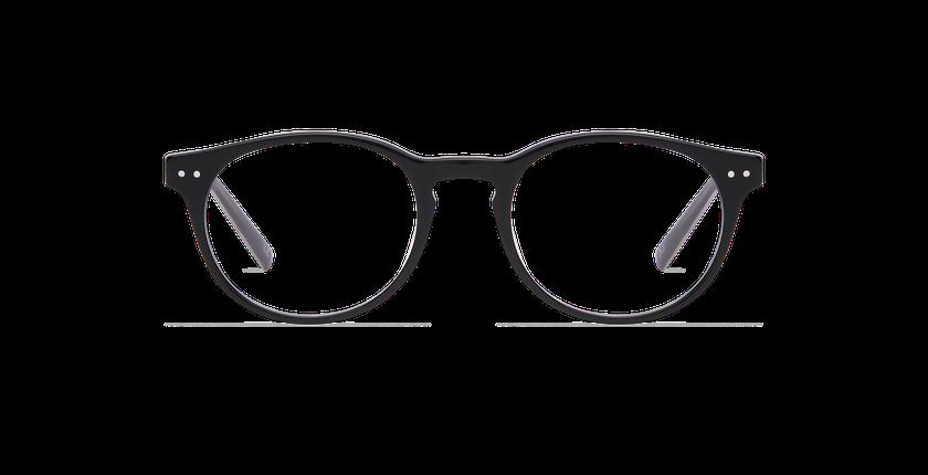 Lunettes de vue homme RUBEN noir - Vue de face