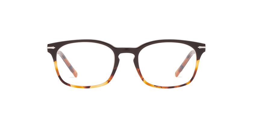 Lunettes de vue homme BELLIGNAT marron/écaille - Vue de face