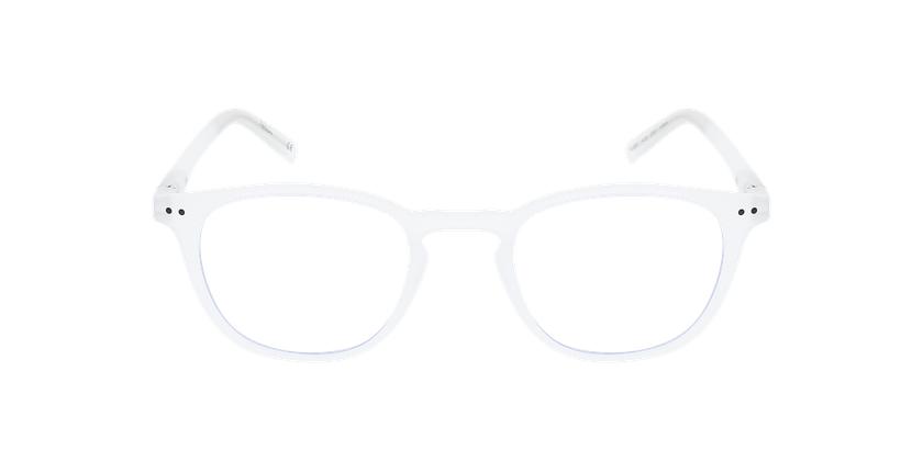 Lunettes de vue BLUE BLOCK 1 MIXTE blanc - Vue de face