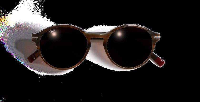 Lunettes de soleil femme POSEIDON marron - Vue de face