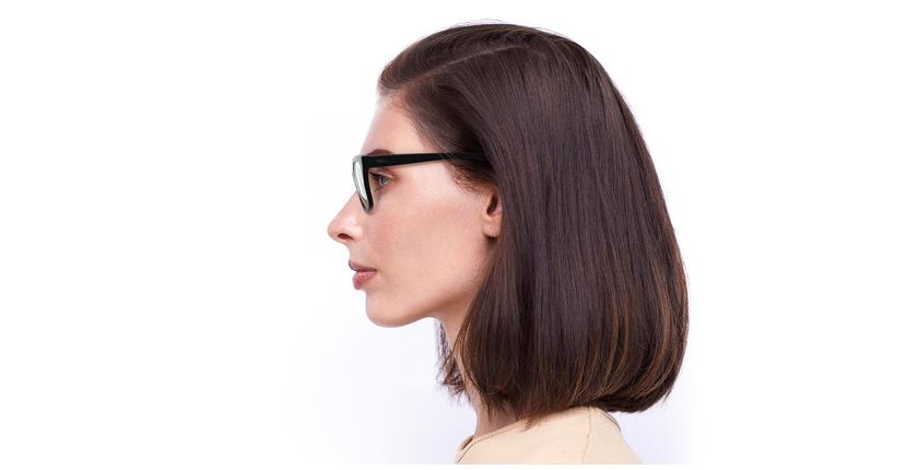 Lunettes de vue femme ALIENOR noir - Vue de côté