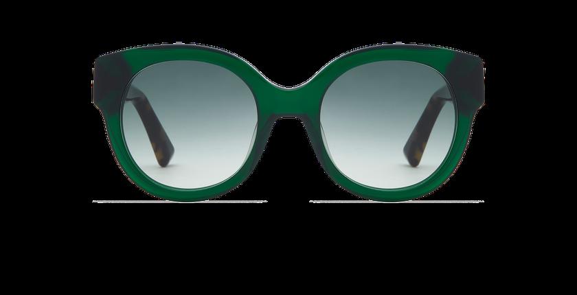 Lunettes de soleil femme CINDY vert/écaille - Vue de face